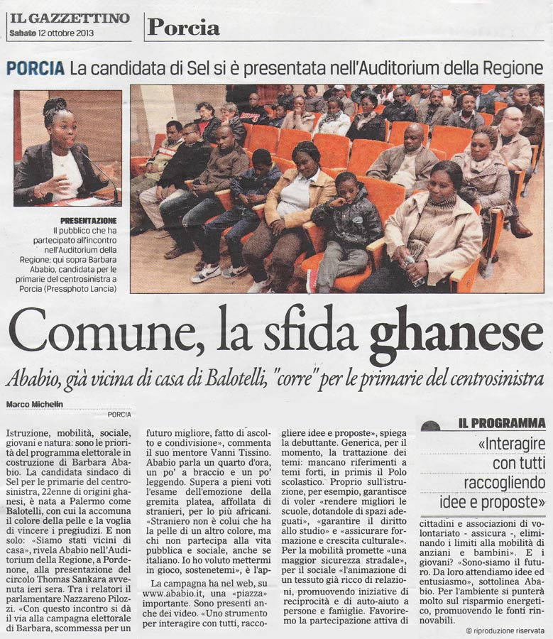 Gazzettino, 12 ottobre 2013